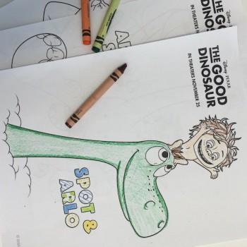 Dibujos para colorear: El viaje de Arlo