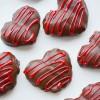 San Valentín, corazones de fresa y chocolate