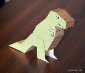 Imprime gratis 5 dinosaurios para niños