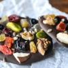 Postres fáciles, fruta con chocolate