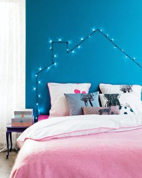 Decorar con guirnaldas de luces