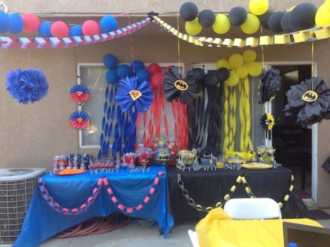 Fiestas infantiles de Superman y Batman