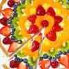 Postres originales, ¡pizza de fruta!