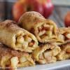 Meriendas: rollitos de manzana y canela al horno