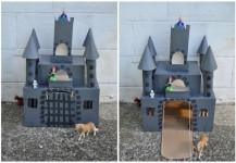 Manualidades con cartón, 4 castillos para jugar