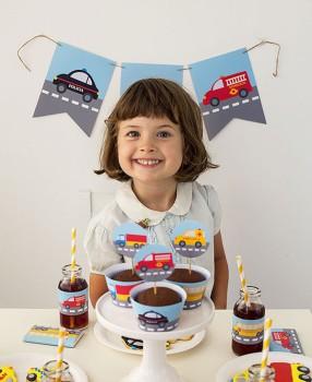 Imprimibles gratis para fiestas de coches