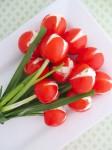 Recetas de verano, tulipanes de tomate