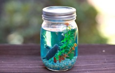 Manualidades para niños, ¡un acuario en un frasco!