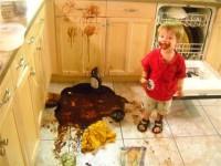 Lo que pasa cuando los niños están solos en la cocina