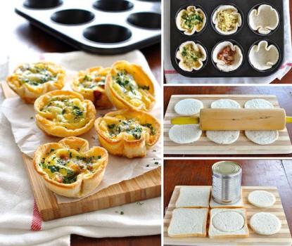 Recetas fáciles, tartaletas con pan de molde