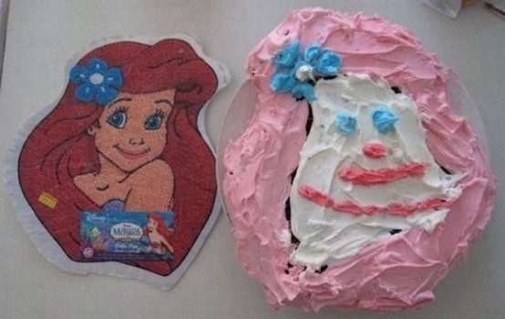 """Fotos divertidas de tartas de cumpleaños """"fallidas"""""""