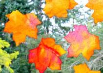 5 manualidades infantiles: Hojas de otoño