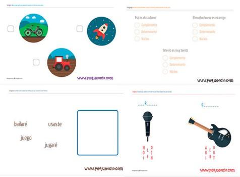 50 fichas de lenguaje ¡para imprimir gratis!