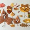 Manualidades para niños de otoño ¡retratos con hojas!