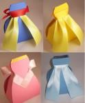 Cajitas para regalo en forma de vestido ¡descarga gratis!