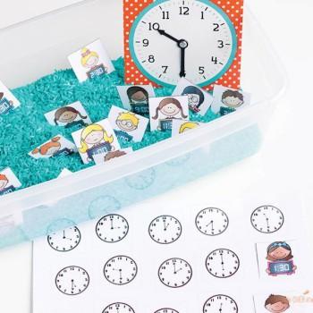 Material Montessori para aprender la hora ¡gratis!