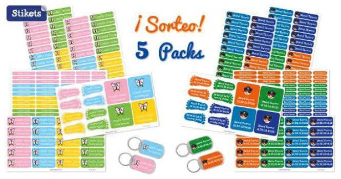 ¡Sorteamos 5 Packs Stikets de 142 etiquetas personalizadas!