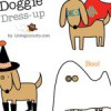 Recortables de Halloween de perritos