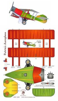 Un avión de papel recortable para hacer tú mismo