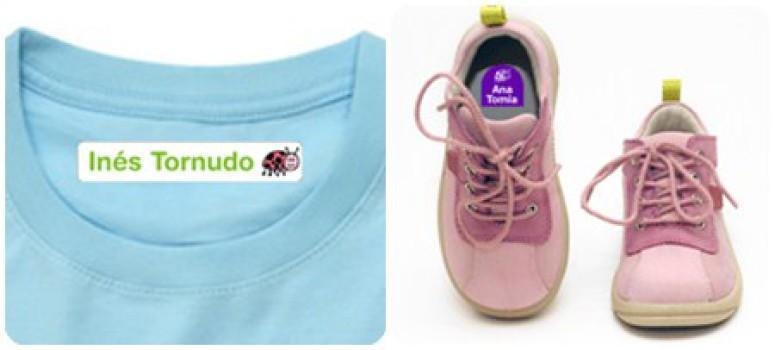 Vuelta al cole: Etiquetas para marcar la ropa infantil