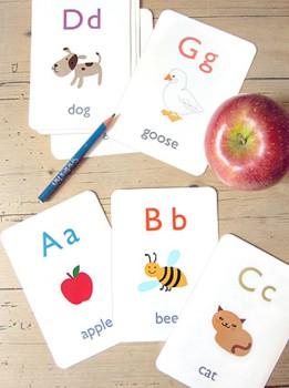Tarjetas del alfabeto inglés para imprimir