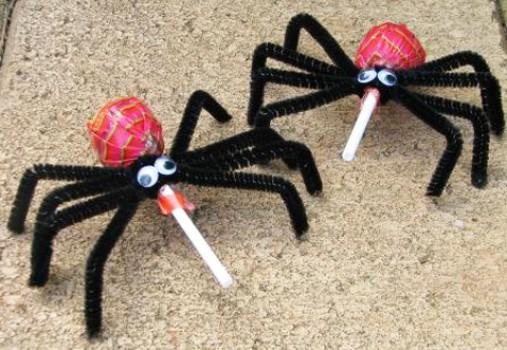 Ideas para Halloween: Arañas de caramelo
