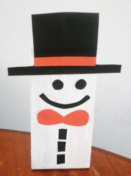 Manualidades navideñas: Muñeco de nieve