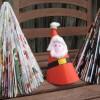 Árbol de Navidad de papel, una manualidad muy divertida