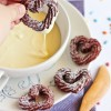 Churros con chocolate blanco, ¡qué originales!
