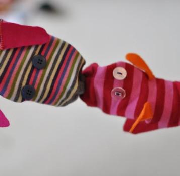 Marionetas hechas con calcetines