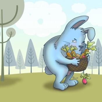 Cuento de El conejo gruñón