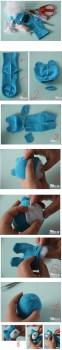 Cómo hacer un osito de peluche con un calcetín