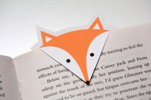 Marcapáginas de zorro para imprimir gratis