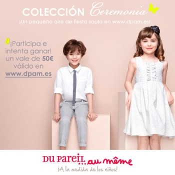 ¡Gana 50€ en la moda infantil de Du Pareil au même!