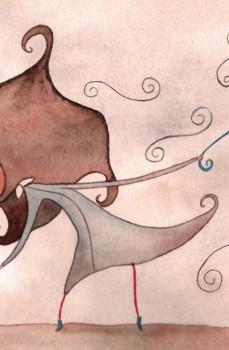 El paraguas rojo de Estíbaliz