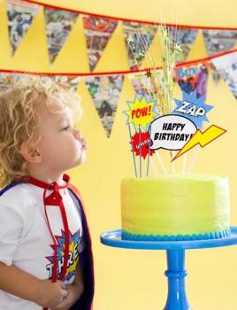 Fiesta temática infantil de superhéroes