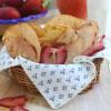 Chips de fruta desecada
