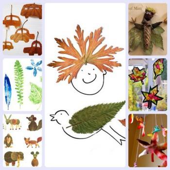 7 manualidades con hojas de otoño