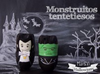 Manualidades para Halloween: Monstruos tentetiesos