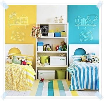 10 habitaciones compartidas por un niño y una niña