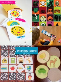 5 juegos de memoria para imprimir gratis