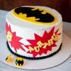 Tarta de cumpleaños fácil de Batman