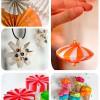 5 adornos caseros de papel para el árbol de Navidad