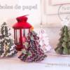 Árboles de Navidad de papel para imprimir gratis