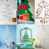 6 árboles de Navidad originales para la pared