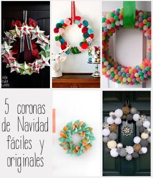 5 Coronas de Navidad fáciles y originales