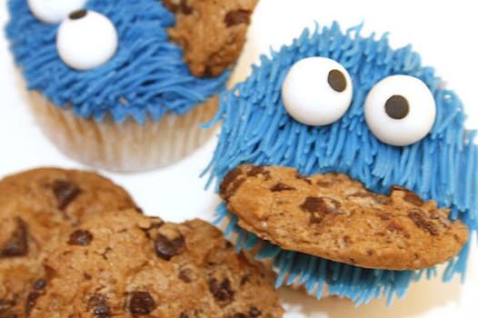 Divertidos cupcakes del Monstruo de las Galletas