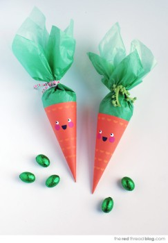 Bolsitas para chuches divertidas: ¡una zanahoria!