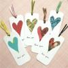 Marcapáginas caseros para San Valentín