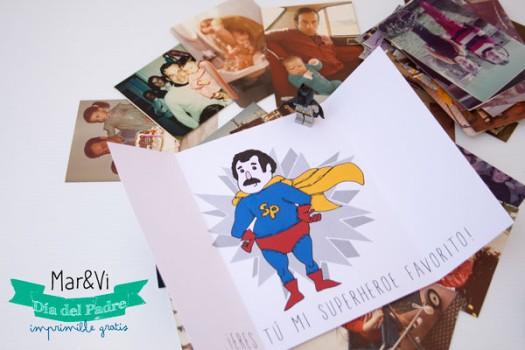 Tarjeta del Día del Padre para imprimir gratis